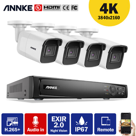 ANNKE 5MP Super HD 5-in-1 8CH DVR Security Camera System with 8 * 5MP Outdoor PIR Cameras
