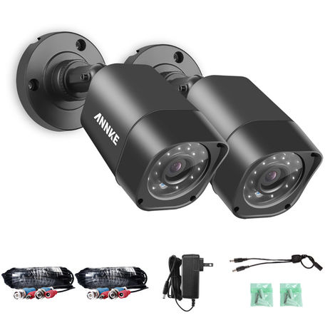 ANNKE 720P 1.0 Megapixel HD Weatherproof Day Night Vision CCTV Security Camera Systems, Fixed Bullet CCTV Camera