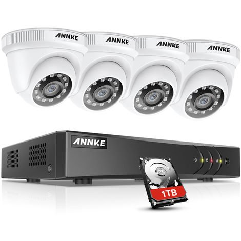ANNKE 8CH 1080N Security System DVR 8Pcs 720P 1.0MP Weatherproof Home Security Camera
