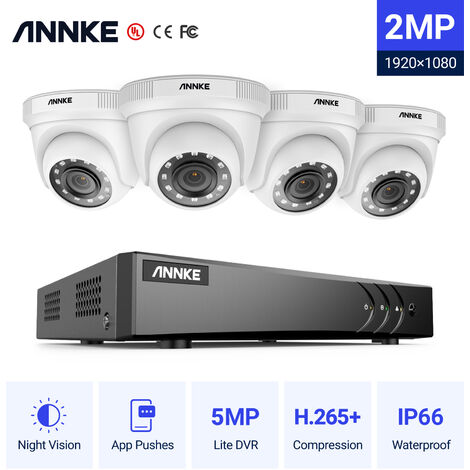 ANNKE 8CH 1080N Security System DVR 8x 960P 1.3MP Weatherproof Cameras for Home Serveillance