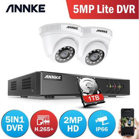 ANNKE 8CH 1080P CCTV DVR HD 1920*1080P Security Camera System 8Pcs 2.0Megapixel Outdoor IR-Cut Day Night Vision Bullet Camera