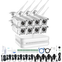 ANNKE 8CH 1080P FHD Wi-Fi NVR Video Surveillance System with H.265 Video Compression 8× Indoor & Outdoor IP Cameras