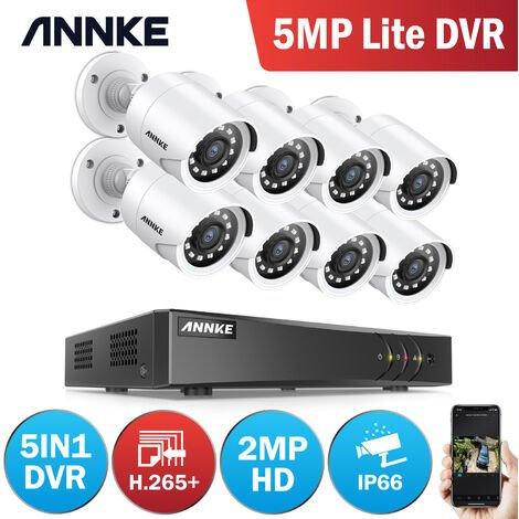 """main image of """"ANNKE 8CH 720P CCTV DVR Recorder with 8x HD Outdoor Bullet Cameras Security System"""""""