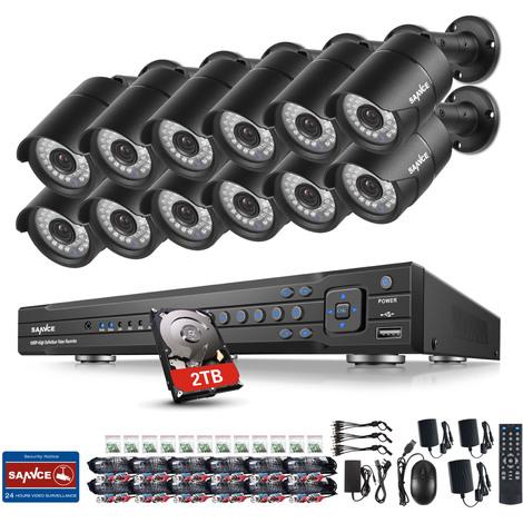 ANNKE 8CH H.265 4K Ultra HD CCTV Camera Systemand 8×8MP HD Weatherproof Cameras