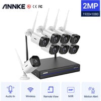 ANNKE 8CH NVR Wireless wifi 720P 1.0MP CCTV Security Camera System IR Night