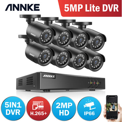ANNKE 960P Home Video Security System 8Channel DVR with 8 IP66 Metal Casing Cameras