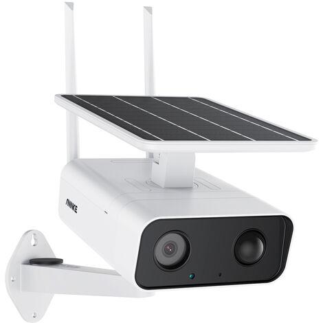 ANNKE Cámara de seguridad inalámbrica Floodlight 1080P, sensor de movimiento PIR, alarma de sirena, almacenamiento en la nube disponible, sonido bidireccional, aplicación de alarma de empuje