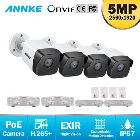 ANNKE Cámara de seguridad IP PoE adicional Super HD de para 5MP Funciona con cámara de seguridad para exteriores ANNKE 8MP IPE NVR IP67 Resistente a la intemperie con LED EXIR - NO.1