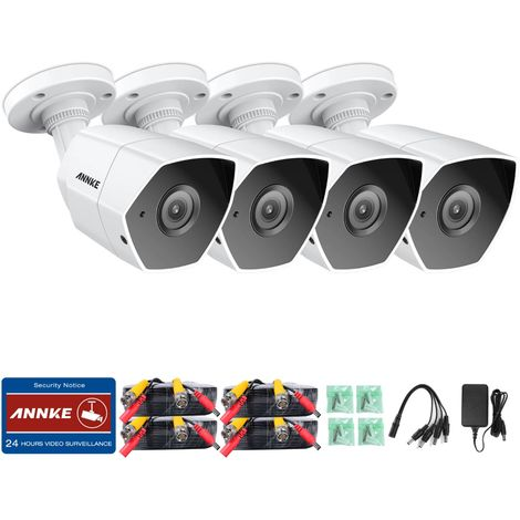 ANNKE CCTV Camera System 4 × 3MP HD Weatherproof Cameras
