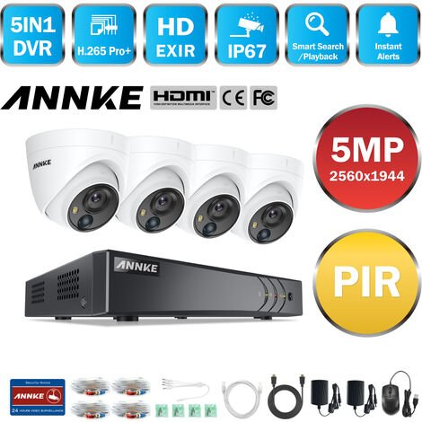 ANNKE CCTV Camera System 8 Channel H 265+ DVR and 4×1080P HD