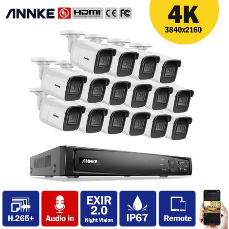 ANNKE CCTV Camera System 8-Channel Ultra HD 4K H.265+ DVR and 4×5MP HD Weatherproof Cameras