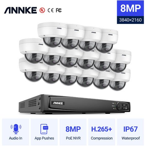 ANNKE Full 1080P Power over Ethernet Security Camera SystemÂ