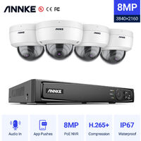 ANNKE Full 1080P Power over Ethernet Security Camera System 6.0MP 8CH NVR and 4* 2MP HD IP Cameras Weatherproof with 100ft Night Vision