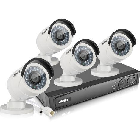 ANNKE Kit 1080P HD vigilancia digital 4CH NVR POE 4*Cámara-cámara