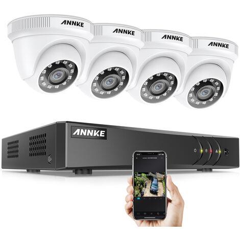 Annke Kit caméra de surveillance filaire 4CH TVI 1080N DVR enregistreur + 4 caméra HD 1080P extérieur vision nocture 20m