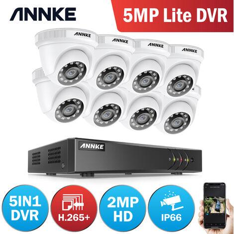 Annke Kit caméra de surveillance filaire 8CH TVI 1080N DVR enregistreur + 8 caméra HD 1080P extérieur vision nocture 20m