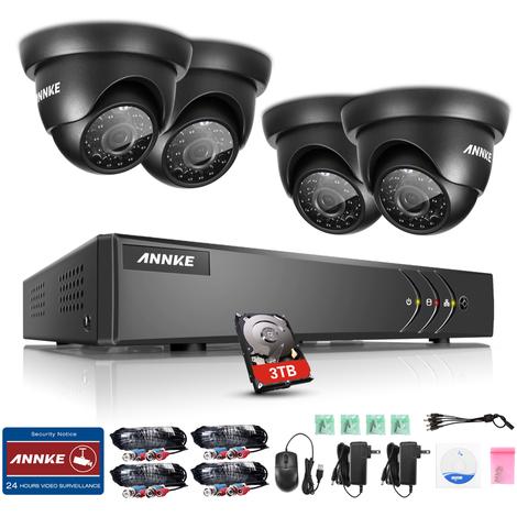 ANNKE Kit sistema de seguridad CCTV 720P DVR 8ch 4*cámara