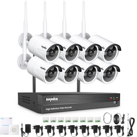 ANNKE Kit vidéosurveillance sécurité extérieur 2 caméra bullet+4CH 1080N 720p DVR enregisteur vision nocture 66ft/20m