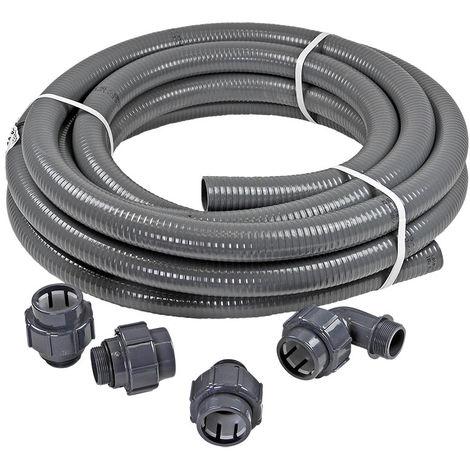 Anschluss-SET 12 m FlexFit flexibler PVC Druckschlauch Ø 50mm + Fittinge