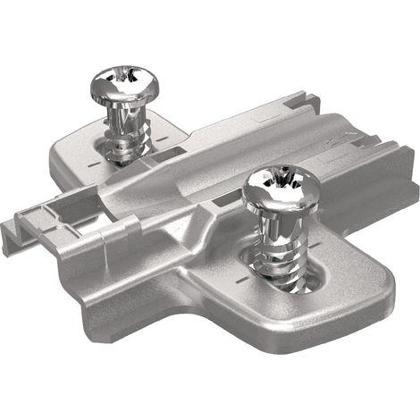 Anschraub - Kreuzmontageplatte - mit Systemschraube