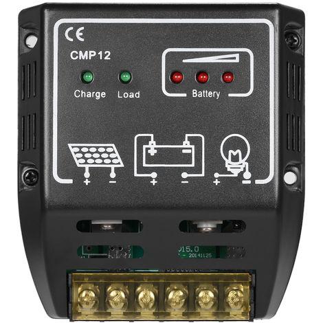 Anself, 20A 12V / 24V, Regulador de carga del controlador de carga solar