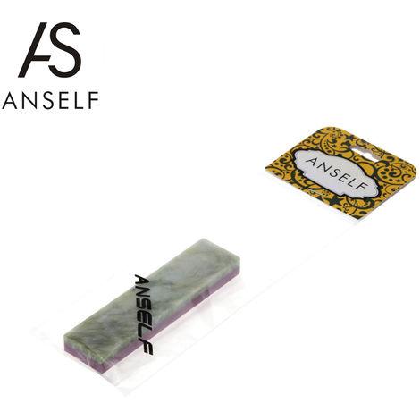Anself, 3000 Combinacion # / 10000 Grit lado del doble de la piedra de afilar, 100 * 25 * 10mm, verde