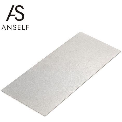 Anself, 400 Combinacion de polvo de diamante piedra de afilar lateral doble sacapuntas Grinder Muela, 150 * 63 * 1 mm