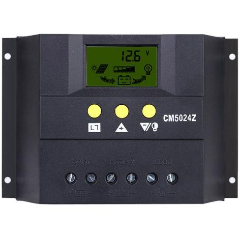 Anself, controlador de carga solar, sistema de bateria de regulador autom¨¢tico de carga PWM, 50A 12V/24V