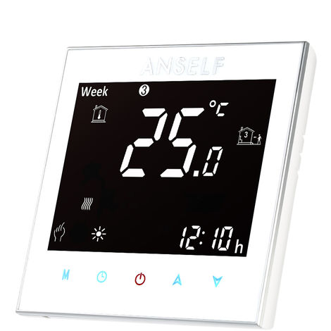 Anself, controlador de temperatura del termostato de calefaccion electrica, 16A 110 ~ 240V