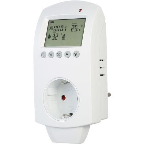 Anself inalambrica electrico Suelo Radiante termostato programable Plug Pantalla LCD de agua de calefaccion de habitaciones zocalo de montaje del regulador de temperatura de salida