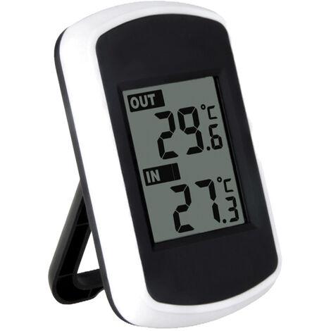 Anself LCD numerique sans fil thermometre interieur exterieur Mesure de la temperature ambiante Meteo testeur