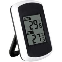 Anself LCD numérique sans fil thermomètre intérieur extérieur Mesure de la température ambiante Météo testeur
