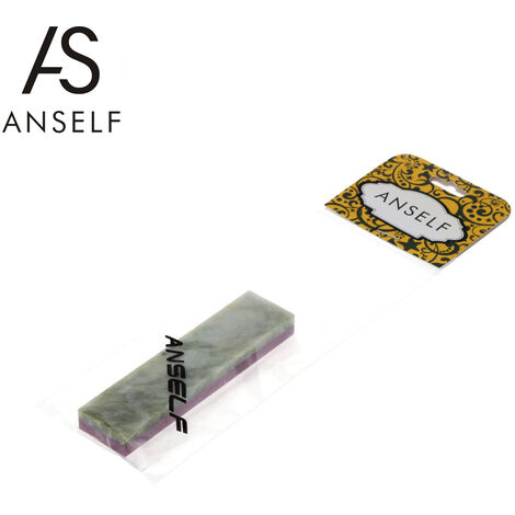Anself Piedra de afilar de combinacion de doble cara de grano 3000 # / 10000, para cuchillos 100 * 25 * 10 mm