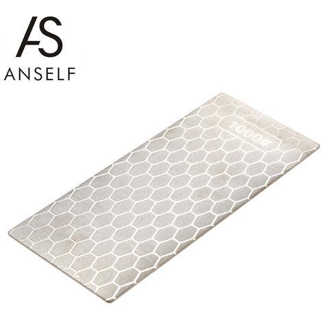 Anself Piedra de afilar de diamante de grano 1000, Afilador de combinacion de doble cara, 150 * 63 * 1 mm