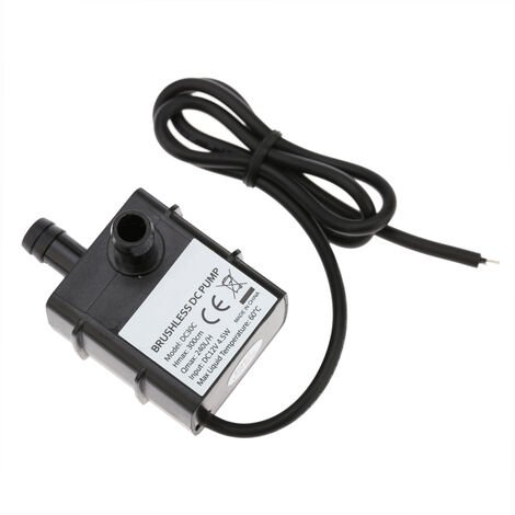 Anself ultra-silencieux Mini DC12V 4.5W Micro Brushless eau Pompe a huile aquarium etanche submersible Fontaine Circulating 240L / H 300cm Lift