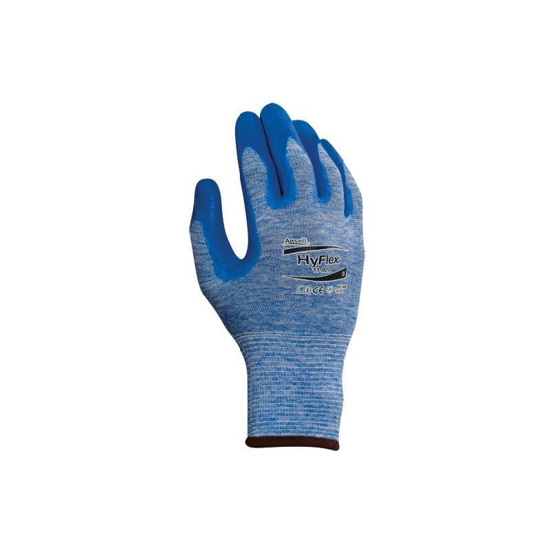 Image of 11-920 Hyflex Blue Grip Gloves Size 8 - Ansell