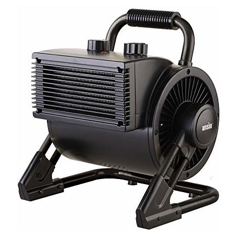 ANSIO 2000W Portable PTC Ceramic Fan Heater Electric Heater with 2 Heat Settings, Thermostat