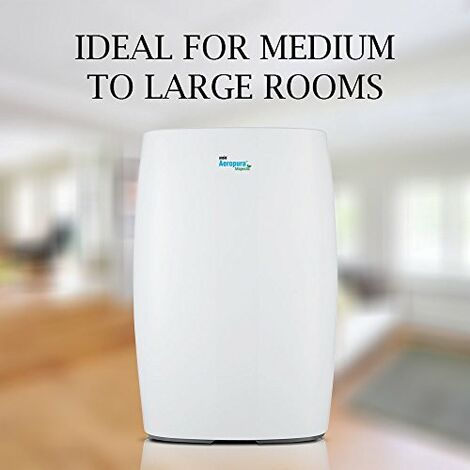 ANSIO Air Purifier with True HEPA Activated Carbon Filters for Medium and Large Rooms CADR 302 m³/h Negative Ion Generator Ionizer Pollen Pets Dander Cooking Dust Odours