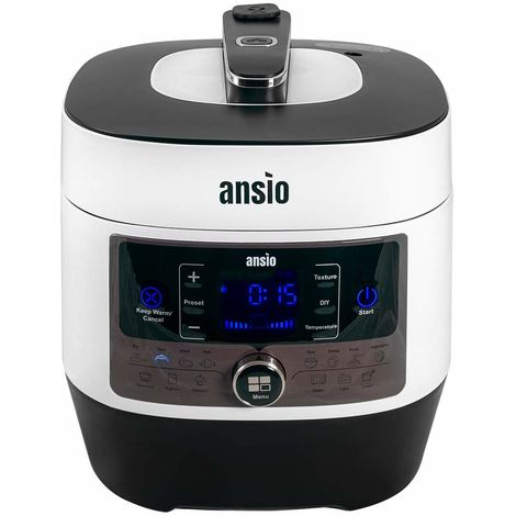 ANSIO COOKPOT SMART55 - Programmable Electronic Multifunction Cooking Pot, Yoghurt-Maker, Slow Cooker, Keeps Food hot.