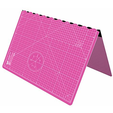 ANSIO Craft Cutting mat A1 Self Healing Foldable Cutting Mat - Quilting, Sewing, Scrapbooking, Fabric & Papercraft - Imperial 34 Inch x 22.5 Inch - Pink