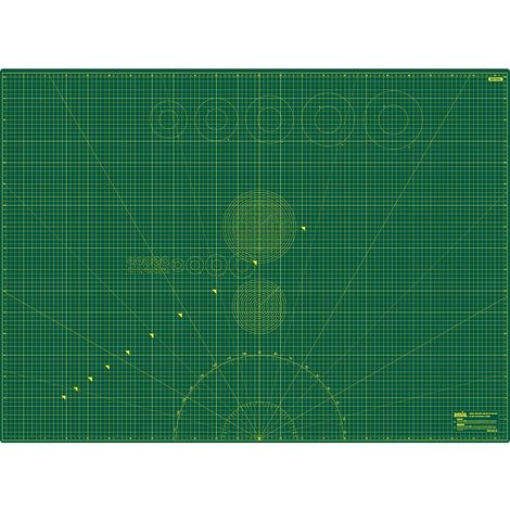ANSIO Craft Mat Self Healing A0 Double Sided 5Layers - Quilting, Sewing, Scrapbooking, Fabric & Papercraft - Imperial/Metric 46 Inch x 33.5 Inch / 118cm x 86 cm - Green…