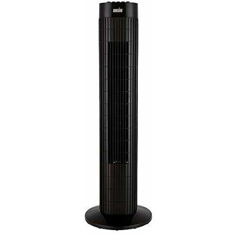 ANSIO Tower Fan 30-inch For Home and Office, 3 Hours Timer, 3 Speed Oscillating Cooling Fan with 2 Year Warranty - Black
