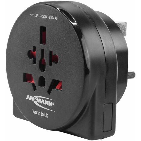 Ansmann 1250-0013 Travel plug - World to UK