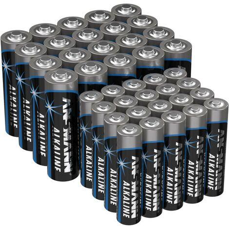 Ansmann Batterie-Set Micro, Mignon 40St. A030051
