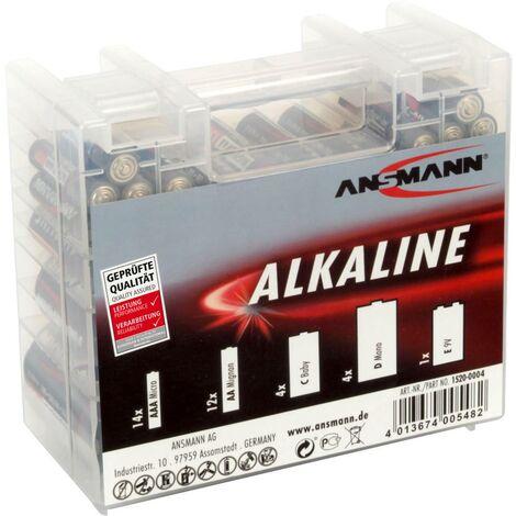 Ansmann Batterie-Set Micro, Mignon, Baby, Mono, 9V Block 35 St. inkl. Box A008621
