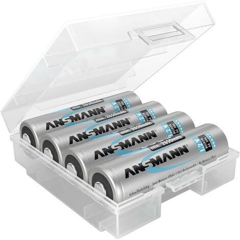 Ansmann Box 4 Batteriebox 4x Micro (AAA), Mignon (AA) (L x B x H) 67 x 55 x 22mm X37311