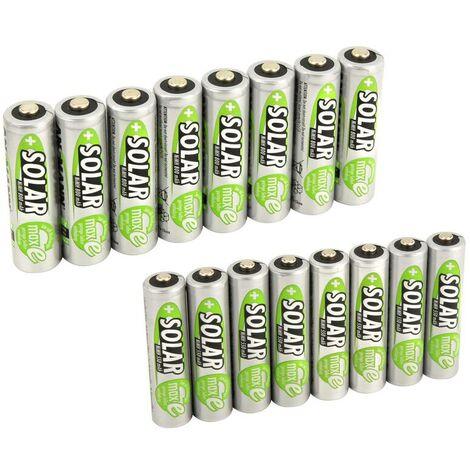 Ansmann Lot de 8 piles rechargeables NiMH AAA solaires 500 mAh