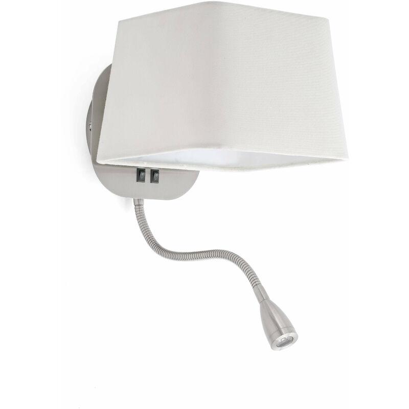 08-faro - Süße weiße Wandleuchte H18 1 Glühbirne