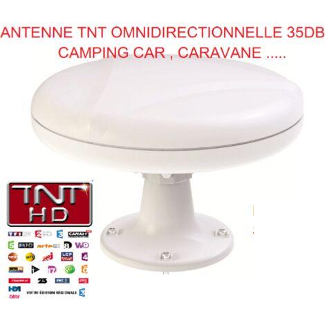 Antarion Antenne TNT 35DB camping-car Omnidirectionnelle , caravane