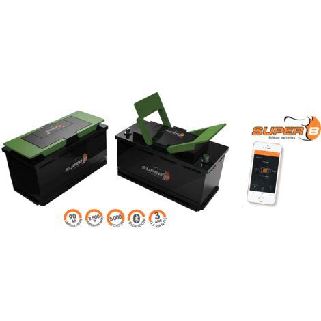 Antarion Batterie au lithium SUPER B EPSILON 90ah camping car et bateau